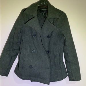 Women's gray pea coat